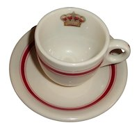 Vintage Syracuse Restaurant Ware/Crested Cup and Saucer
