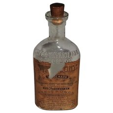 Kress & Owen Co. New York Early 1900's  Partial Label Glyco-thymoline
