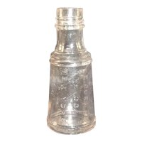 Pat 1877 Clear Glass Bottle E. R. Durkee & Co., New York