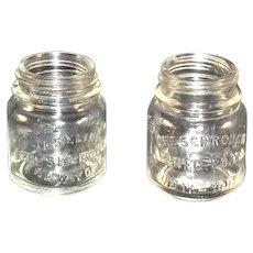 Pair of Embossed Chesebrough Co. Vaseline Jars