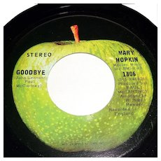 Mary Hopkin Goodbye, Sparrow 45rpm.  Apple Records Tested