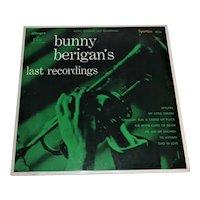 "Bunny Berigan's Last Recording 10"" Long Play  33 1/3 Tested"