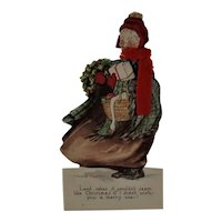Campbell Cards Art Co. 1916 Granny Stand-Up Christmas Card