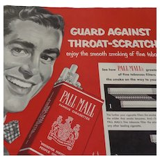 Pall Mall Cigarettes Full Page Ad 1952