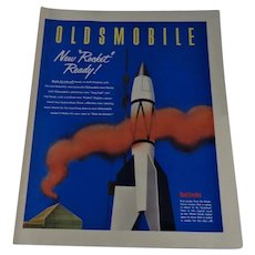 Oldsmobile Rocket Ready Full Page Ad 1952