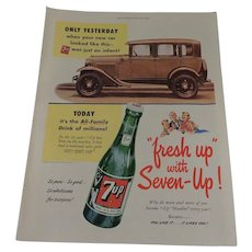 Seven-up, 7up Full Page Ad 1952