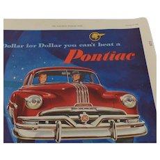 Pontiac  Full Page Ad 1952