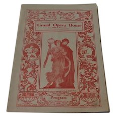 Grand Opera House A.J. Small Program 1914
