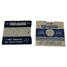 2 Vintage View-Master Reels Canada Land of Contrast, National Exhibition