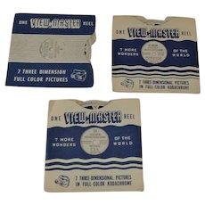 3 Vintage View-Master Reels Hoover Dam