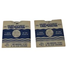 2 Vintage View-Master Reels 1, 2 Maine The Pine Tree State