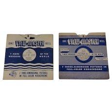 2 Vintage View-Master Reels Ottawa, Victoria BC