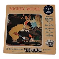 Set of 3 Mickey Mouse View-Master Reels with Booklet 1958