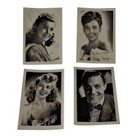 4 Vintage Black & White Arcade Cards