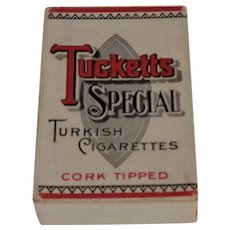 Tucketts Special Cork Tipped Cigarette Pack Empty