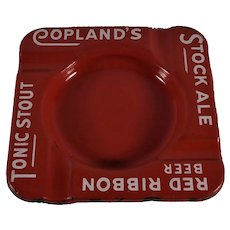 Copland's Stock Ale Red Enameled Ash Tray