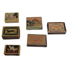 Eclectic Collection of 6 Match Boxes Alberta to Italy