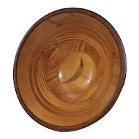 Multi Wood Laminated  Bowl Date 1967