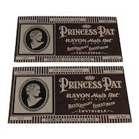 2 Mint in Package Princess Pat Hair Nets for Bobbed Hair