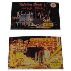2 Booklets of Las Vegas Strip Plastichrome Views