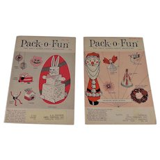 2 Pack-O-Fun Scrap Craft Magazines 1965