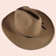 Lanning Carver Tan Felt Hat Size 6 7/8