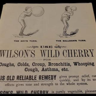 Vintage Wilson's Wild Cherry Advertisement Insert