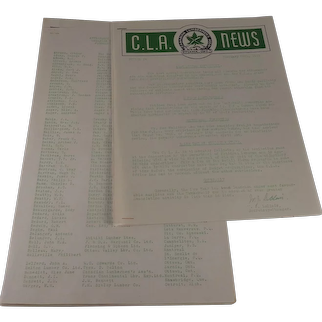 C.L.A. News 1948 with Attendee List