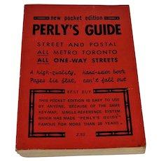 Perly's Guide Street & Postal Metro Toronto 1974