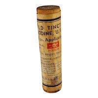 Mild Tincture of Iodine Wooden Tube Paper Label Sealed