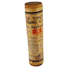 Mild Tincture of Iodine Wooden Tube Paper Label Sealed