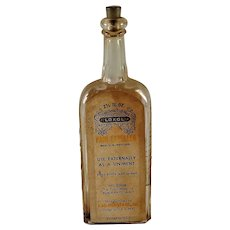 Embossed with label Loxol F.A.D. Richter & Co.  Pain Expeller