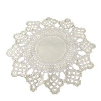 """12 Point Round Tatted Doily 10"""""""