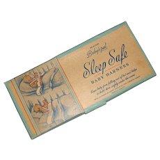 Vintage Baby's Pal SLEEP SAFE Baby Harness MIB