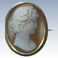Antique Victorian High Relief Shell Cameo