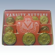 Vintage Varsity Buttons for Harvard University