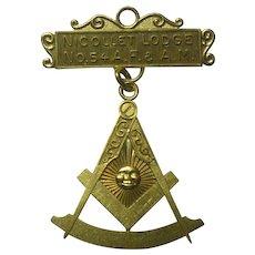 Vintage Masonic Pendant