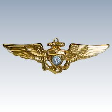 U S Navy Pilot Sweetheart Wing Pin