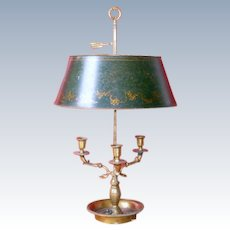 Antique French Bouillotte Lamp