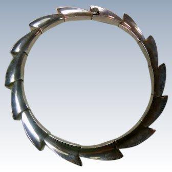 Vintage Heavy Mexican 950 Silver Necklace by ALICIA