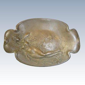 Antique Gorham & Co. Art Nouveau Signed Bronze Tray
