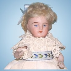 "4 3/4"" Later Kestner All Bisque 257/12 Doll ~ Very Cute!"