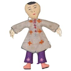 "2 3/4"" Chinese Flat Cloth Doll"