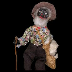 "8 1/2"" Loveleigh ""Old Black Joe"" ~ Folk Art Doll"