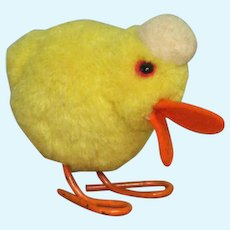"2 1/2"" Steiff Wool Pompom Duck ~ Ready for your Easter Basket"