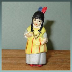 "2"" Hertwig Indian Woman ~ Immobile All Bisque Tiny"