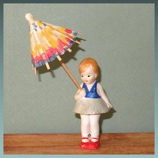 "3 1/4"" Hertwig Girl with Parasol"