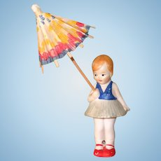 """3 1/4"""" Hertwig Girl with Parasol"""