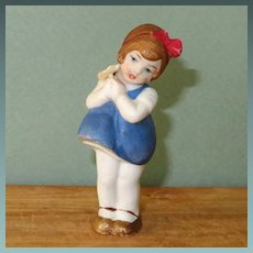 """3 1/4"""" Hertwig Girl with Flower"""