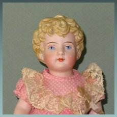 "9"" All Bisque Kling Child...Pretty Doll!"
